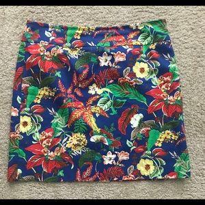 Talbots size 10 print skirt